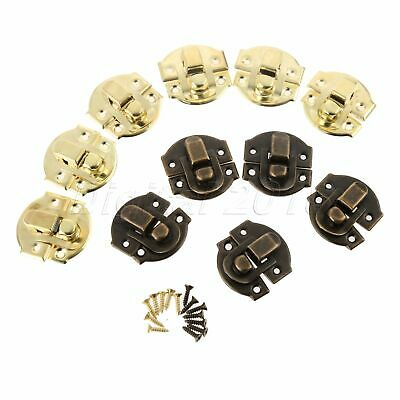 10-50PCS Jewelry Box Case Toggle Lock Buckle Chests Trunk Latch Clasp Clip Hasp
