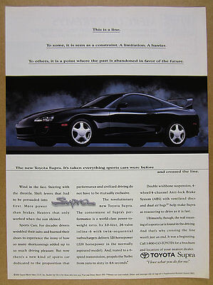 1994 Toyota Supra black car color photo vintage print Ad