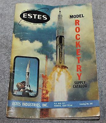Vintage Estes Rocket Catalog No. 681 1968