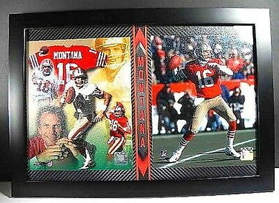 Joe Montana #16 Collage San Francisco 49 ers,Plaque Wall picture,51 cm,