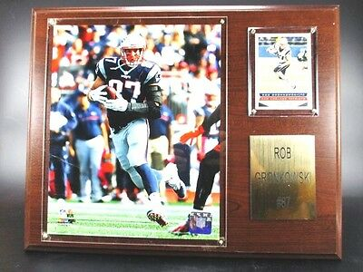 Rob Gronkowski New England Patriots Wood Wall Picture 38cm,Plaque Pic