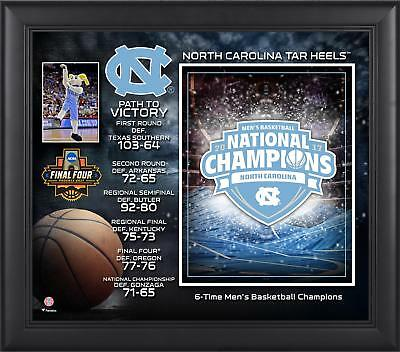 UNC Tar Heels Framed 15x17 2017 NCAA Men's Basketball National Champs Collage