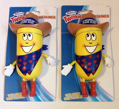 Twinkie the Kid (2x) Collectible Hostess Containers NEW on Cardboard Backing