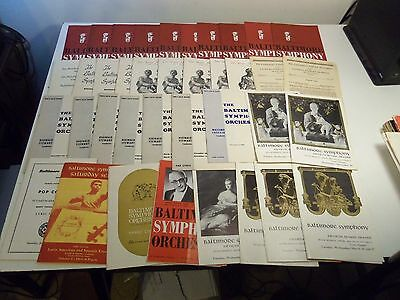 1951-1967 Lot 37+ BALTIMORE SYMPHONY ORCHESTRA Programs & Papers