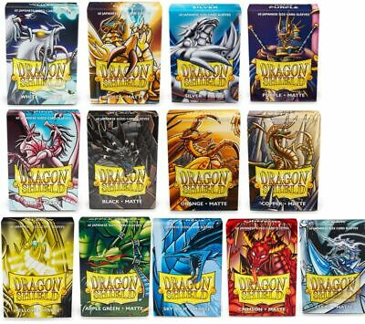 60 Dragon Shield Small Sleeves - Japanese Matte - Farbe wählen -
