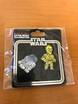Star Wars Celebration Collector Pin Set 2017 C-3PO & R2-D2