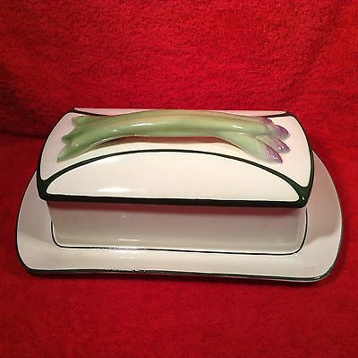 Antique Villeroy & Boch Majolica Faience Asparagus Container, gm809