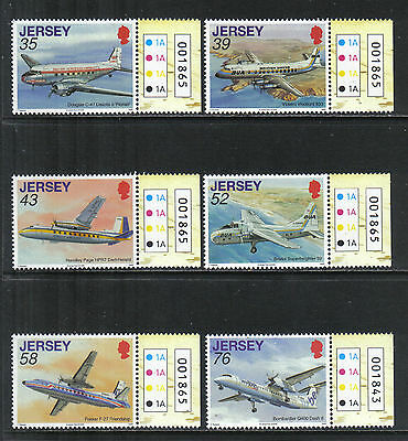 Jersey 2009 Airplanes--Attractive Transportation Topical (1350-55) MNH