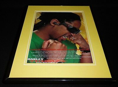 Lil Wayne 2005 Oakley Thump Eyewear Framed 11x14 ORIGINAL Vintage Advertisement