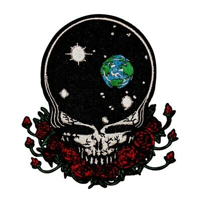 Grateful Dead Art Steal Your Universe Skull & Roses Band Iron On Applique Patch