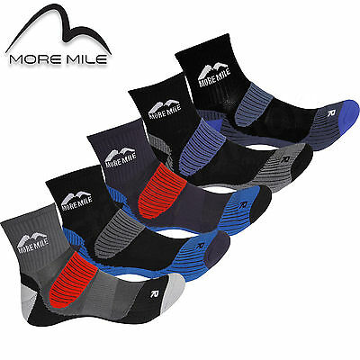 5 Pair Pack More Mile Cushioned Padded Trail Running Sports Socks Mens Ladies