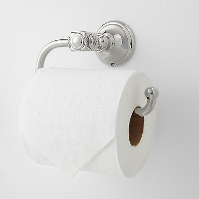 Signature Hardware Vintage Collection Euro Toilet Paper Holder in Chrome