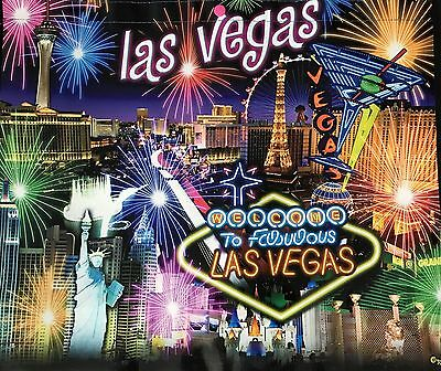 Las Vegas Neon Sign Hotels Night Scene Reusable Tote Bag Fireworks Martini MGM