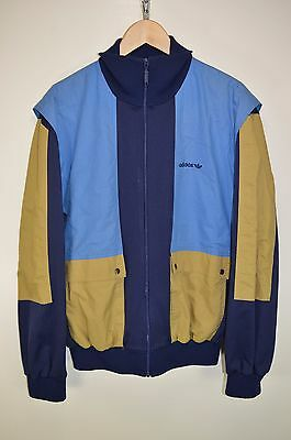 vtg 70s ADIDAS OLDSCHOOL CASUALS RETRO TRACK JACKET TRACKSUIT TOP SIZE D56 XXL