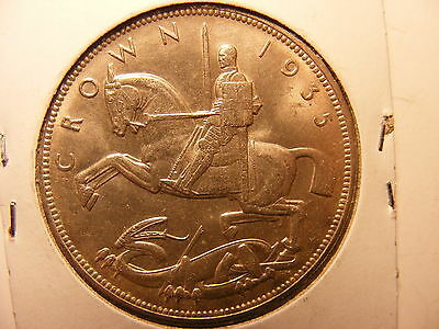 Great Britain 1935 Silver Crown, UNC. One Year Type Coin
