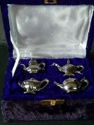 Set of 4 Vintage Silver plated Teapot Napkin Rings