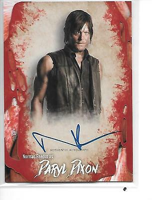 2016 Topps The Walking Dead Norman Reedus Auto Autograph Daryl Dixon