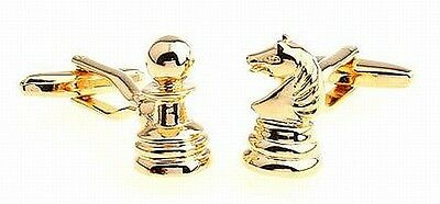 Cuff Links Cufflinks CHESS Horse Constructor ,NEW