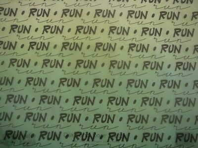"12X12"" Vellum Green Run Run Run Words from It Takes Two 5 Sheets"