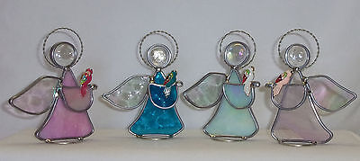 Parrot & Leaded Stained Glass Angel Handmade in USA by Seller 4 New variations