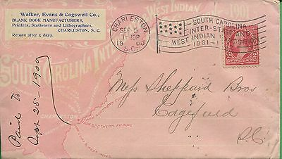 1900 USA Edgefield South Carolina Interstate & West Indian Exposition Cover