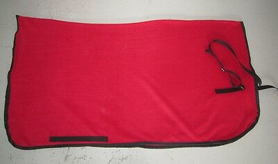Horse Exercise or Quarter sheet FREE EMBROIDERY Choose your size & Binding RED