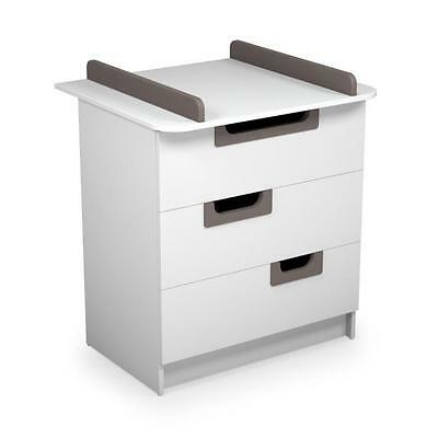 ATELIERS T4 Commode a langer Laqué Gris Taupe
