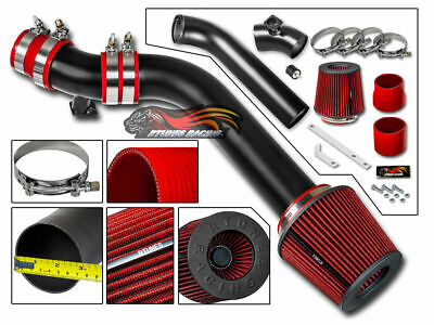 MATTE BLACK COLD AIR INTAKE SYSTEM + DRY FILTER FOR BMW 92-98 E36 325/328i