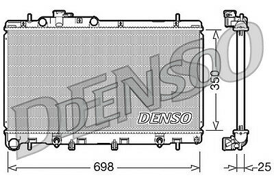Denso Radiateur drm36011 remplacement 45111ae060 67709