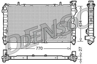 Denso Radiateur drm06011 remplacement 4809225ae 61005