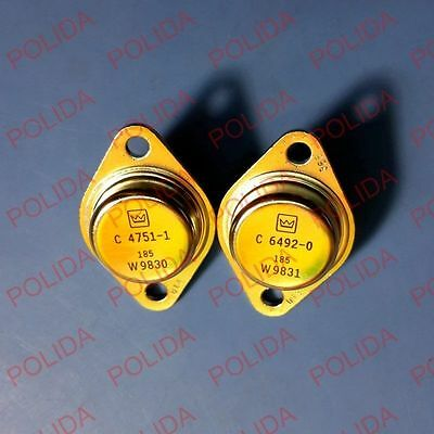 1pairs OR 2PCS Transistor Crown TO-3 C4751-1/C6492-0 C4751/C6492