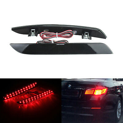 2x BMW F10 F11 F18 LED Rear Bumper Reflector Brake Reverse Tail Stop Light Lamp