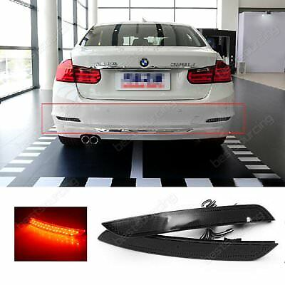 Pair LED Rear Bumper Reflector Signal Tail Light BMW F30 F31 F35 F36 3 4 Series