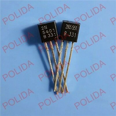 100pairs OR 200PCS  Transistor CHANGJIANG/ON TO-92 2N5401/2N5551 2N5401G/2N5551G