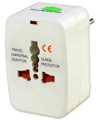 All in One Universal Travel Wall Charger AC Power Plug Adapter AU UK US EU White