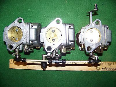 MERCURY MARINE 50HP 3 CYLINDER 90 S 2000 S Era COMPLETE CARBURETOR SET