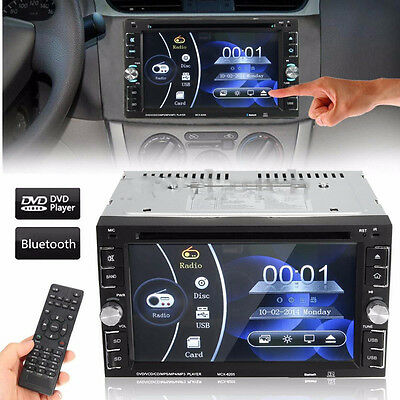 HD Touch Screen Double 2DIN 6.2'' Car Stereo DVD CD MP3 Player Bluetooth Radio E