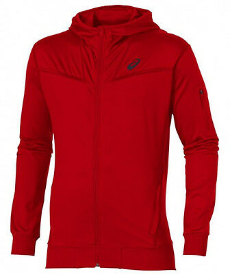 Asics Full Zip Mens Running Hoody - Red