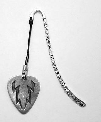 Guitar Pick (Plectrum) Bookmark, Fine English Pewter, Handmade, Gift Boxed (h)