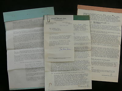 """Max Peacock 1942-46 Literary Contracts for """"Colonel Blood"""" & Others  Robert Hale"""