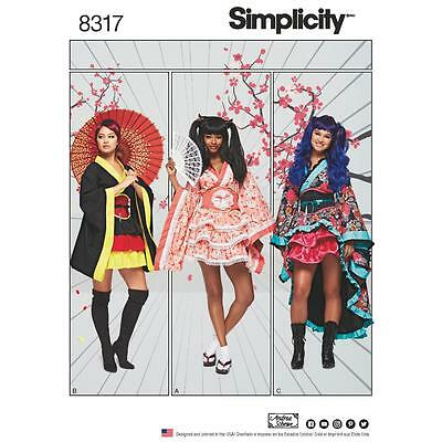 Simplicity Sewing Pattern Misses Geisha Costumes Kimono Size 6 - 24 8317