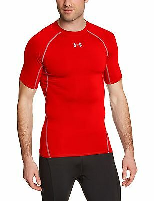 Under Armour Men's Compression Short-Sleeved T-Shirt Armour Red Small