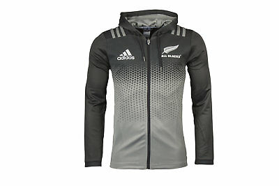 adidas Mens New Zealand All Blacks 2017/18 Players Hooded Rugby Sweat