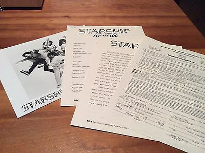 JEFFERSON STARSHIP: Vintage Concert Contract, Rider, Photo, Tulsa, 1985!
