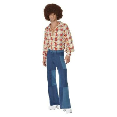 Bell Bottom Pants Adult 70s Disco Costume Flares Halloween Fancy Dress