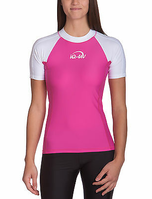 IQ UV 300 Shirt Slim Fit Damen (white-pink) 665130.3213 Collection 2017 NEU !!!