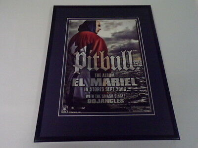 Pitbull 2006 El Mariel Framed 11x14 ORIGINAL Vintage Advertisement