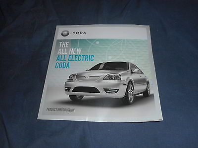 2011 All Electric Coda USA Market  Brochure Catalog Prospekt