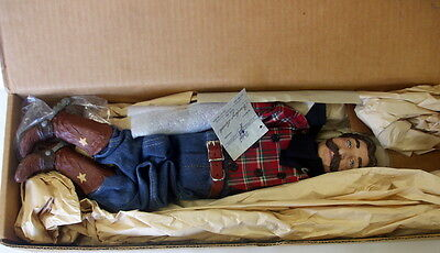 "Cowboy Buck ~ Daddy's Long Legs Black Americana 24"" Artist Doll~ Nib"