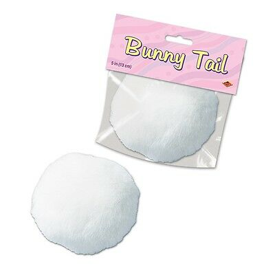 5 inch Jumbo White Plush Bunny Tail - Easter Costume Accessory fnt